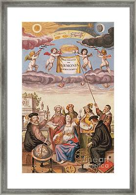 Harmonia Macrocosmica Frontispiece Framed Print by Science Source