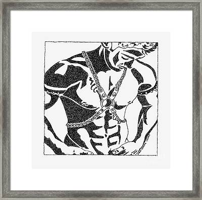 Harnessed In Chains Framed Print by John Stofka