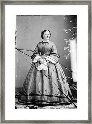 Harriet Lane, Niece Of  James Buchanan Framed Print by Everett