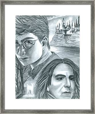 Harry Potter Framed Print by Crystal Rosene