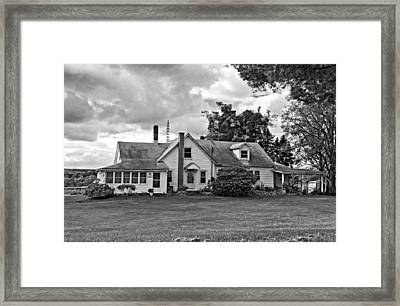 Harvest Time In Pennsylvania Monochrome Framed Print by Steve Harrington