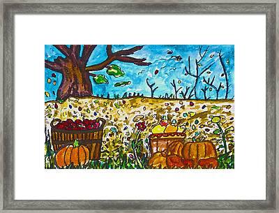 Harvest Time Framed Print by Monica Engeler