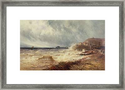 Hastings Framed Print by Gustave de Breanski
