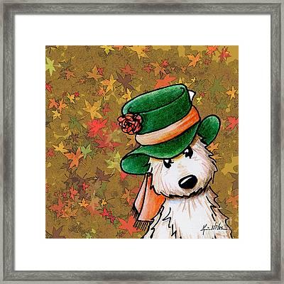 Hat Season Cairn Terrier Framed Print by Kim Niles