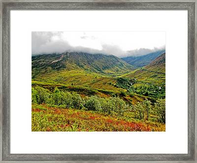 Hatcher Pass - Alaska Framed Print by Cheryl Colaw