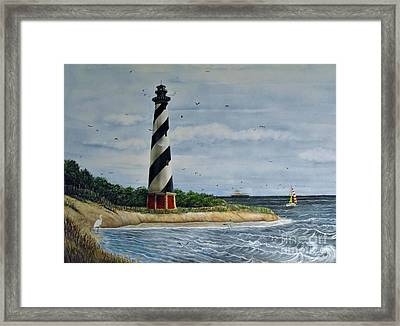 Hatteras Lighthouse Framed Print by Sandy  Hurst
