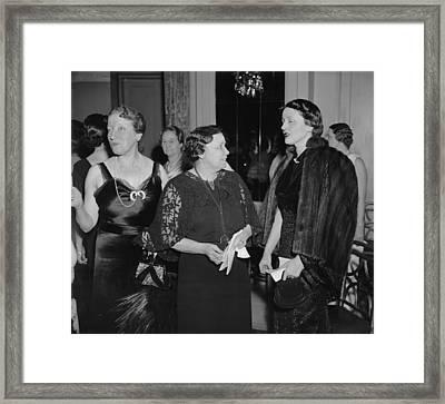 Hattie Caraway, Woman Senator Framed Print by Everett
