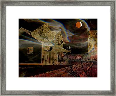 Haunted Evening Framed Print by Shirley Sirois