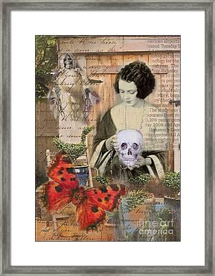 Haunted Garden Framed Print by Ruby Cross