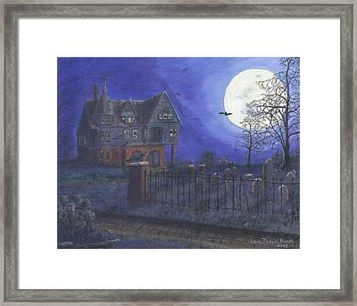 Haunted House Framed Print by Lori  Theim-Busch
