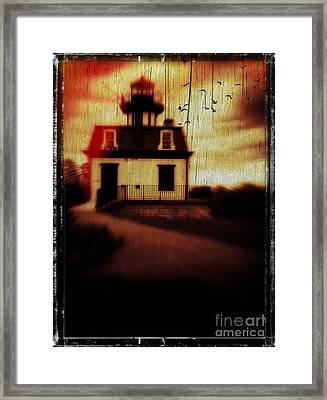 Haunted Lighthouse Framed Print by Edward Fielding