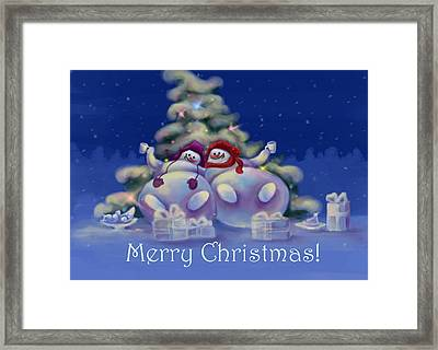 Have A Merry Christmas Framed Print by Anastasia Michaels