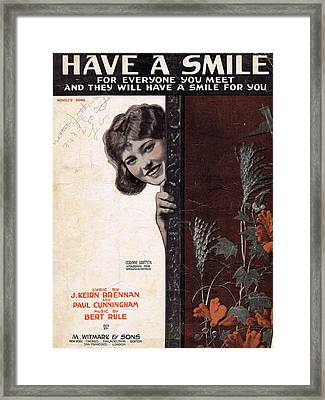 Have A Smile Framed Print by Mel Thompson