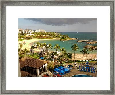 Hawaiian Lagoon In Ko Olina Oahu Hawaii Framed Print by Andy Kim