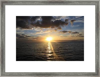 Hawaiian Sunset 2 Framed Print by Brandon Radford