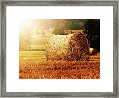 Hay Bale Framed Print by Photographe