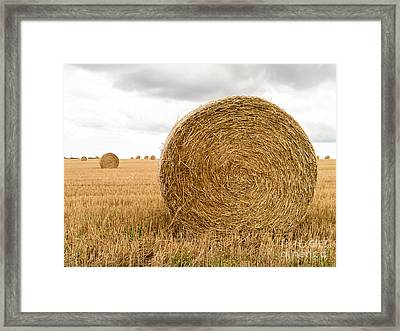 Hay Bales Framed Print by Edward Fielding