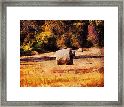 Hay Bales Framed Print by Jai Johnson