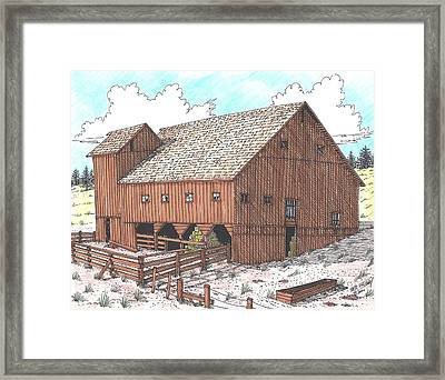 Hay Barn Framed Print by Bill Friday