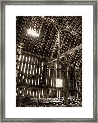 Hay Loft Framed Print by Scott Norris