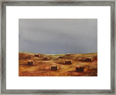 Hayfield Framed Print by Ruth Kamenev