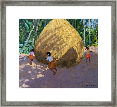 Haystack Framed Print by Andrew Macara