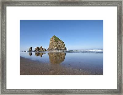 Haystack Rock 3 Framed Print by Mauro Celotti