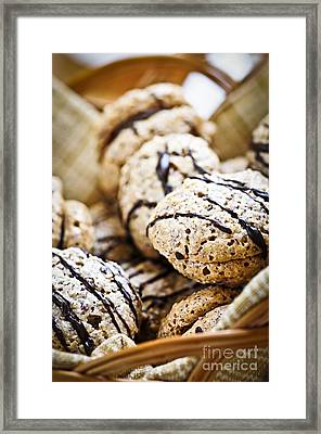 Hazelnut Cookies Framed Print by Elena Elisseeva