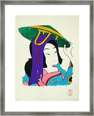 Hazukashigariya No Aisatsu Framed Print by Roberto Prusso