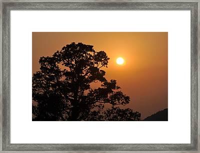 Hazy Sunset Framed Print by Marty Koch