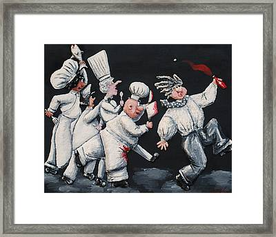 He Asked For Ketchup Framed Print by Alison  Galvan