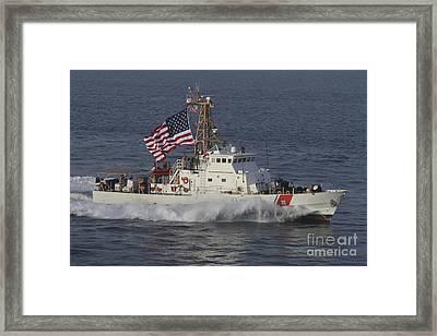 He U.s. Coast Guard Cutter Adak Framed Print by Stocktrek Images