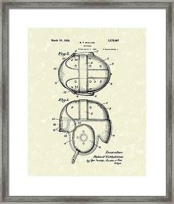 Headgear 1926 Patent Art Framed Print by Prior Art Design