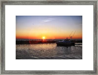Heading Back Framed Print by Mark Papke