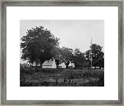 Headquarters - Army Of The Potomac - Fairfax Courthouse Virginia 1863 Framed Print by International  Images