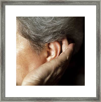 Hearing Loss Framed Print by Cristina Pedrazzini