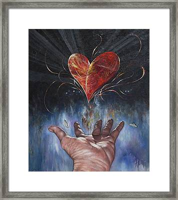 Heart And Soul Framed Print by Jan Camerone