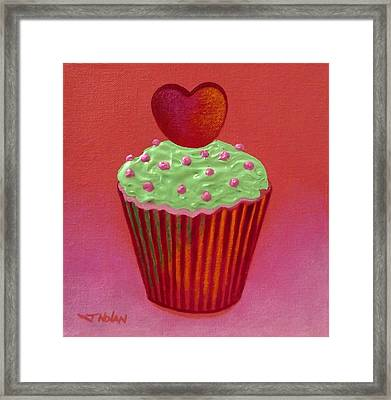 Heart Cupcake  Framed Print by John  Nolan