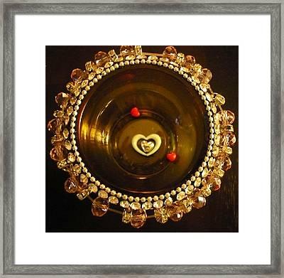 Heart Mandala Framed Print by Debra Jacobson