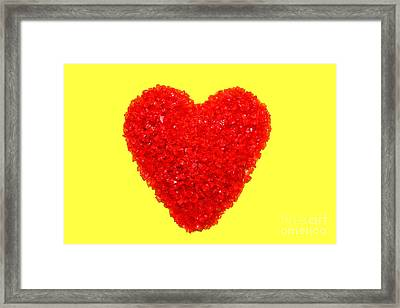 Heart Of Glass Framed Print by Olivier Le Queinec