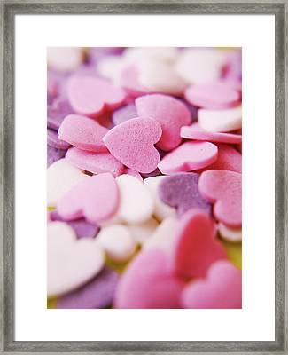 Heart Shaped Candies Framed Print by Rolfo