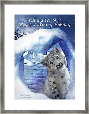 Heart Warmer Card Framed Print by Carol Cavalaris