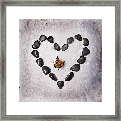 Heart With Rose Framed Print by Joana Kruse