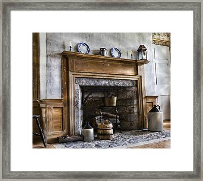 Hearth Stone Framed Print by Peter Chilelli