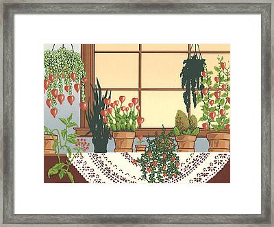 Hearts A' Bloom Framed Print by Anne Gifford