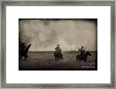 Heat Of The Battle Framed Print by Kim Henderson