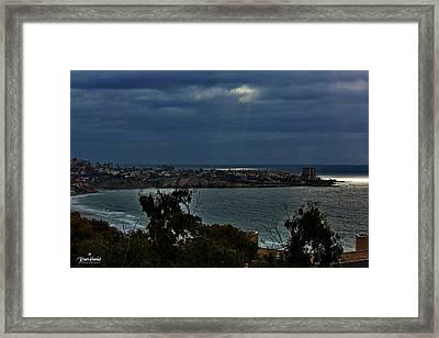 Heavely Spotlights Framed Print by Russ Harris