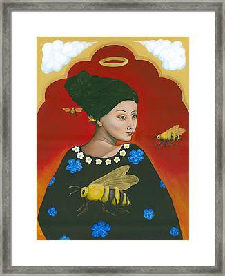 Heavenly Mother Of The Honeybee Framed Print by Christina Miller