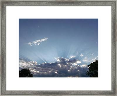 Heavenly Rays Framed Print by Brian  Maloney