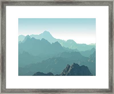 Heavens Breath 14 Framed Print by The Art of Marsha Charlebois